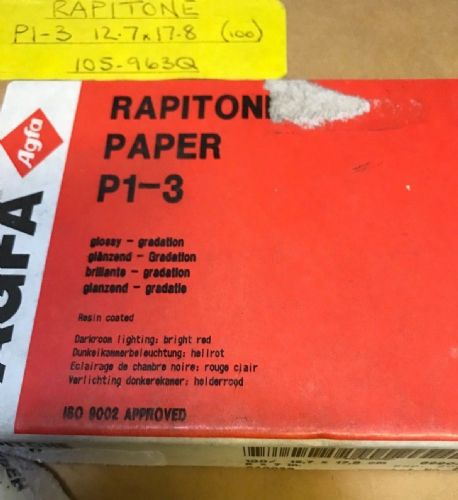 "Agfa Rapitone 5x7"" paper in box of 100 sheets"